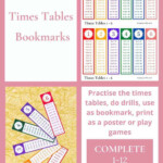 Printable Times Table Bookmark   Show My Crafts