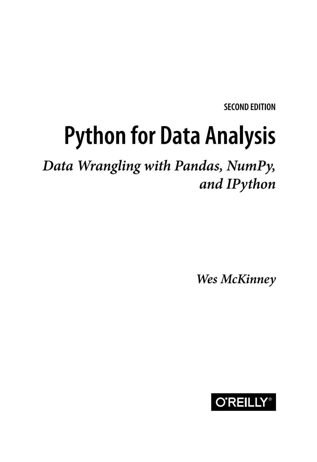 Python For Data Analysis. Data Wrangling With Pandas, Numpy