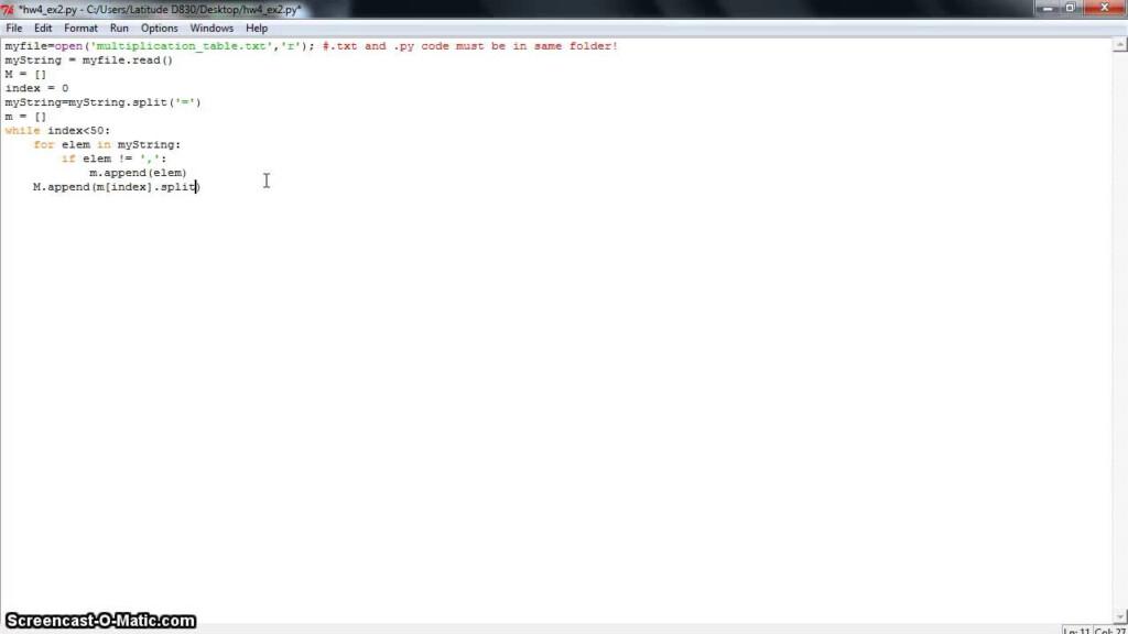 Python Homework 4.2   Multiplication Table   Youtube