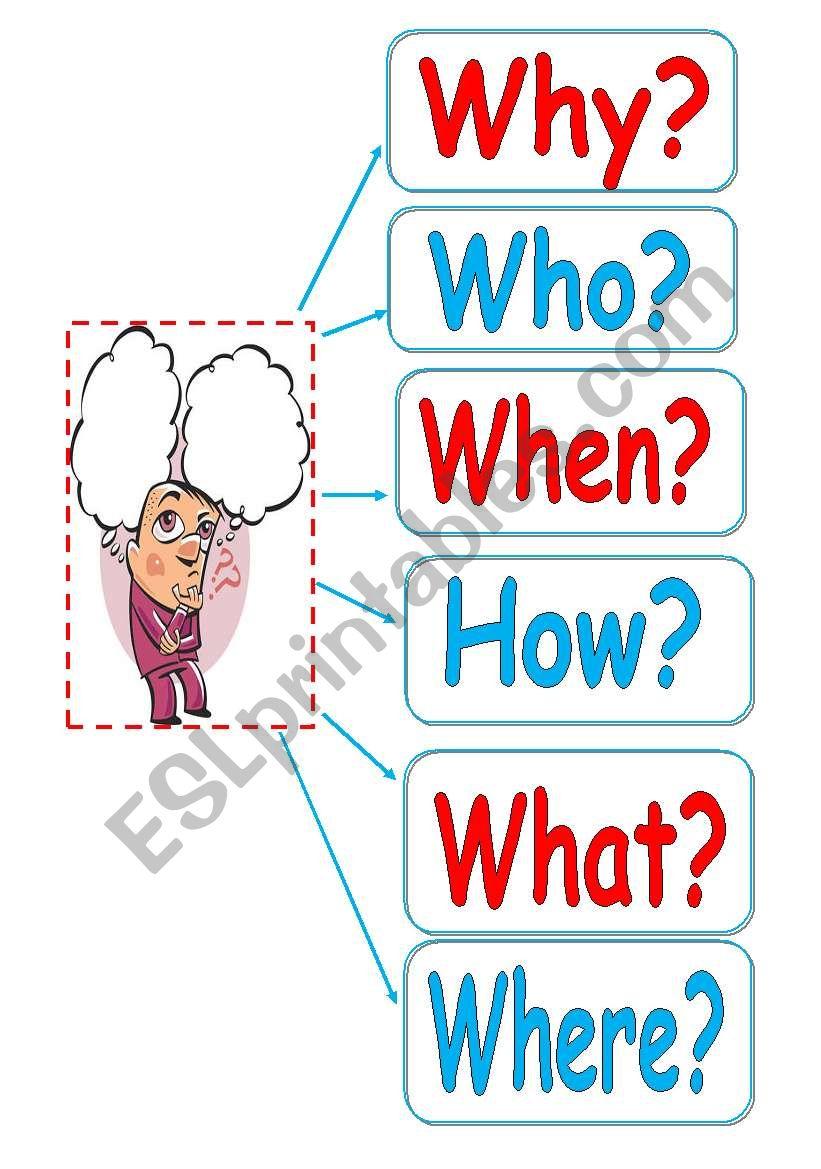 Question Words Flashcards. - Esl Worksheetnurikzhan