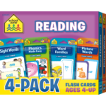Reading Flash Cards 4 Pack | Flashcards, Sight Word