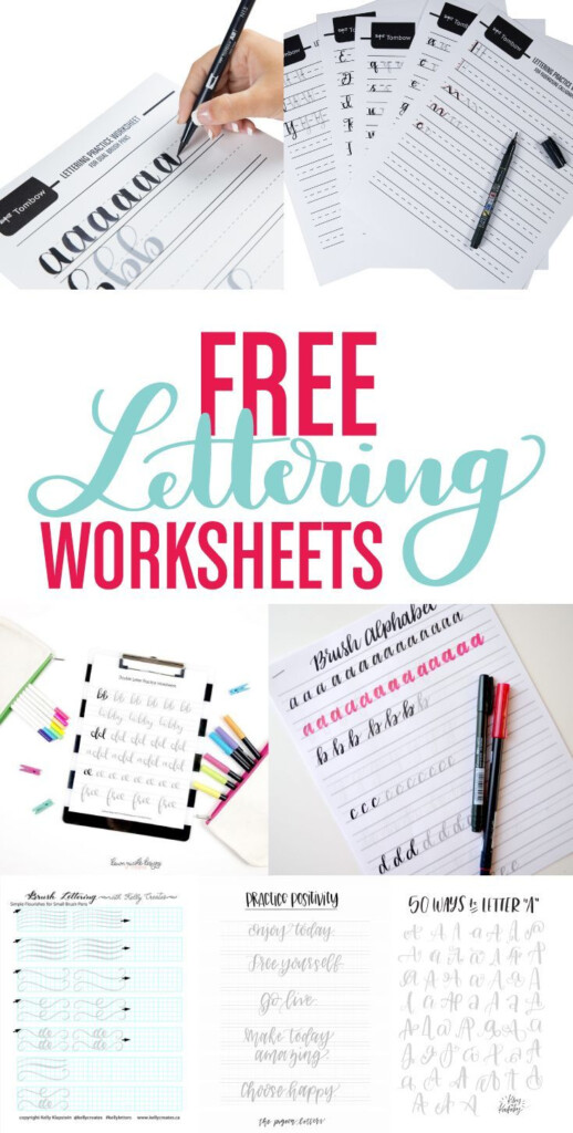 Resources For Free Lettering Worksheets Tutorial Printable