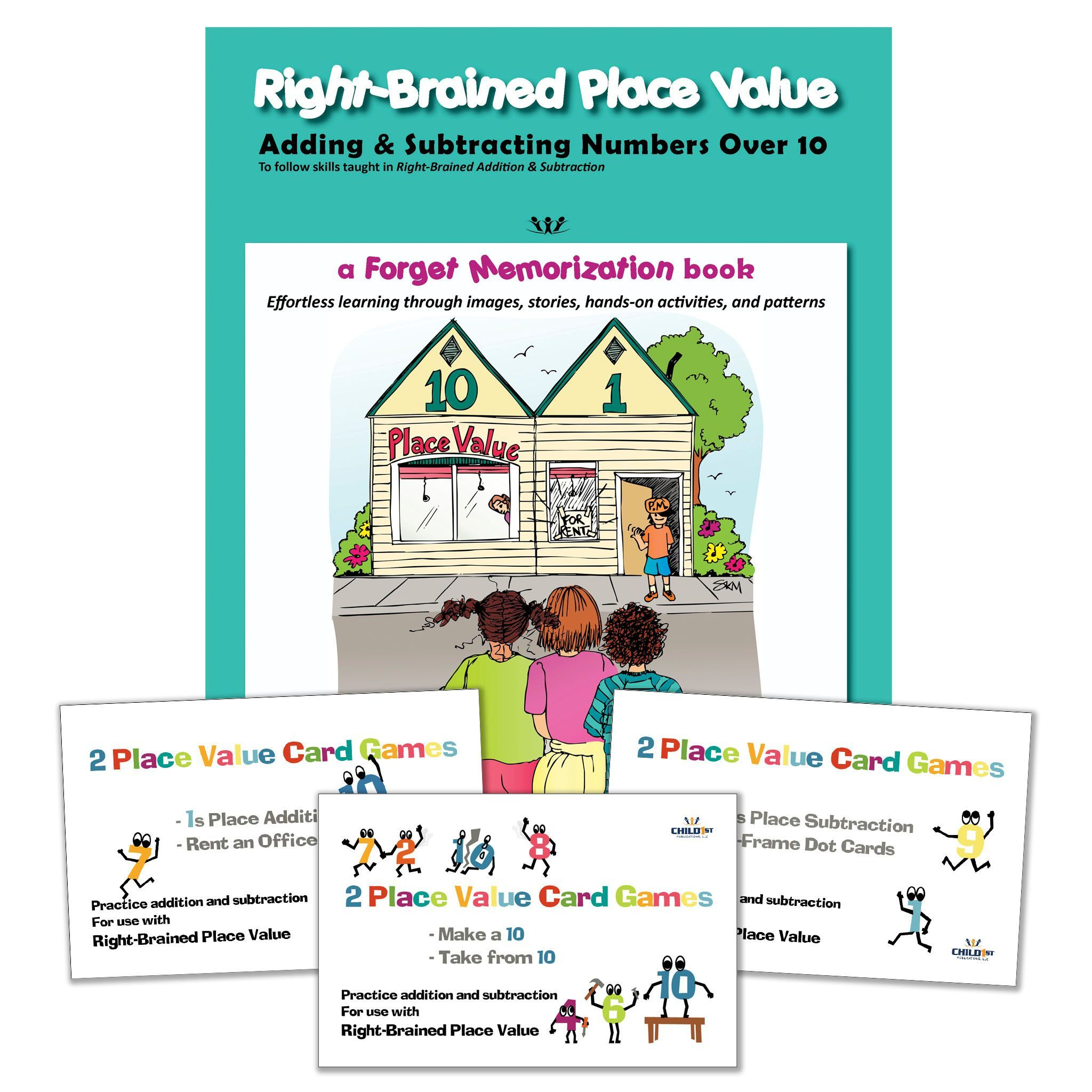 Right-Brained Addition & Subtraction Vol. 2, Book & Games