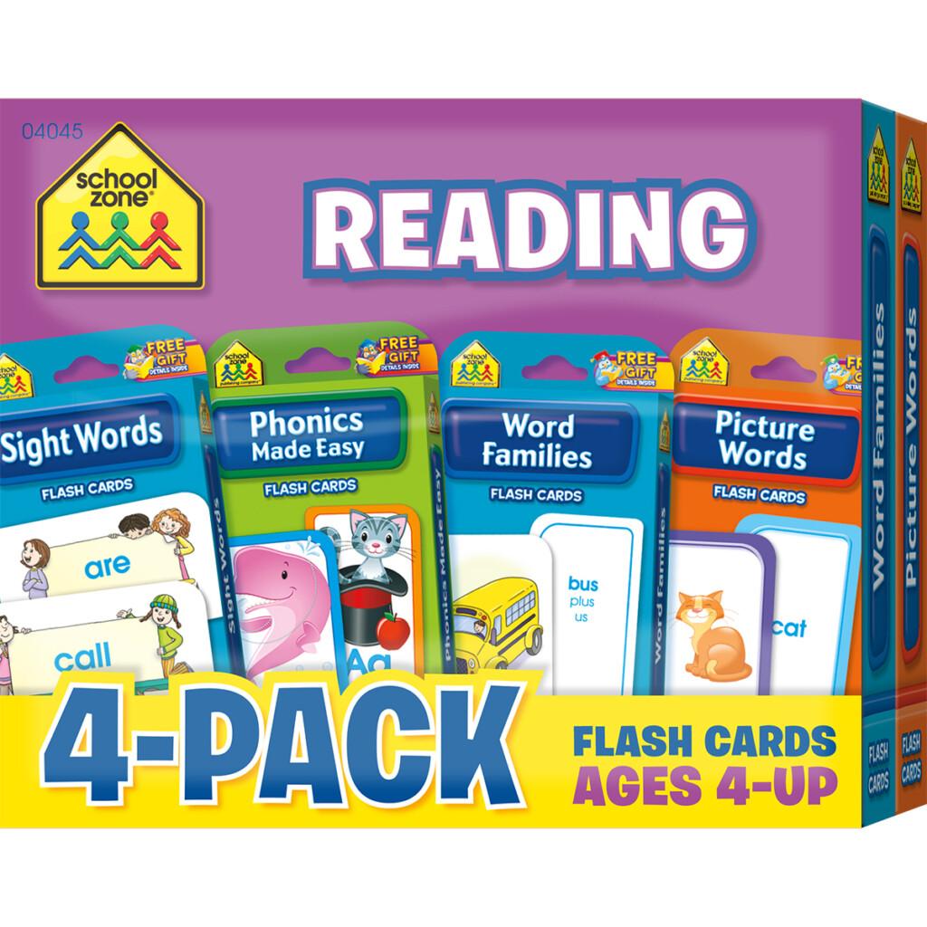 School Zone Math 1 2  Flash Card 4 Pack Flash Card (4046