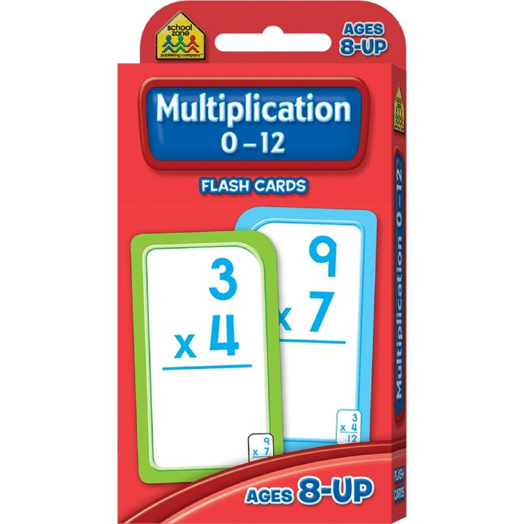 School Zone Multiplication 0 12 Flash Cards