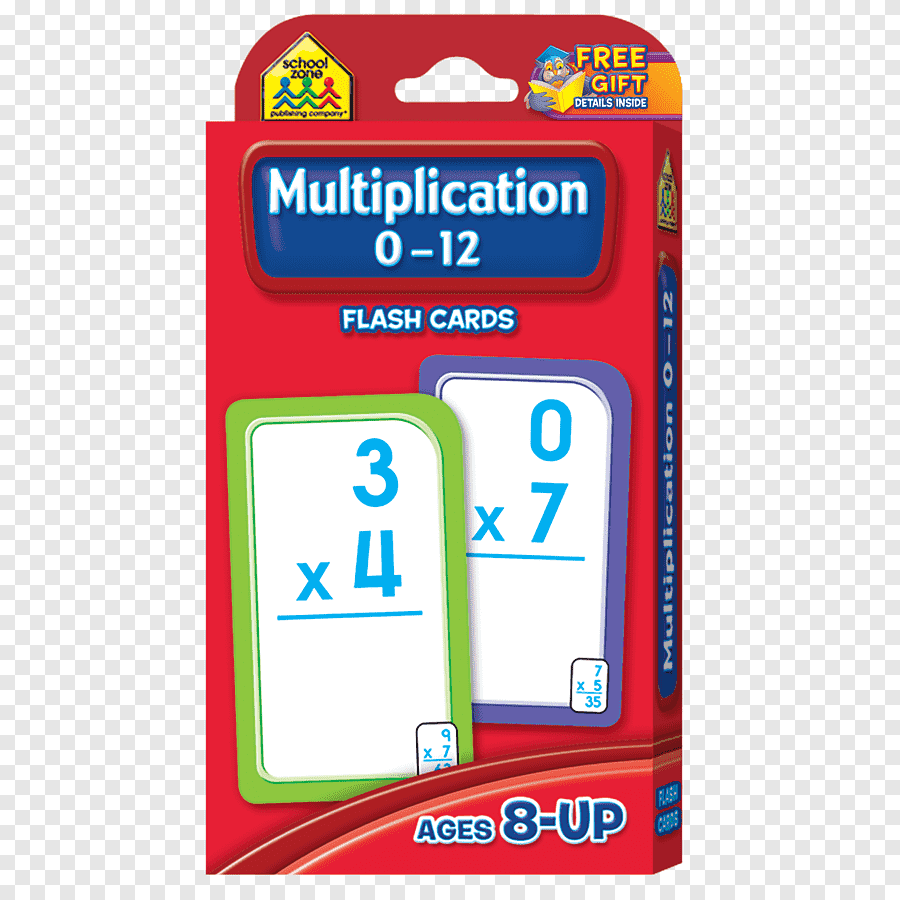 School Zone Numbers 1-100 Flash Cards Multiplication