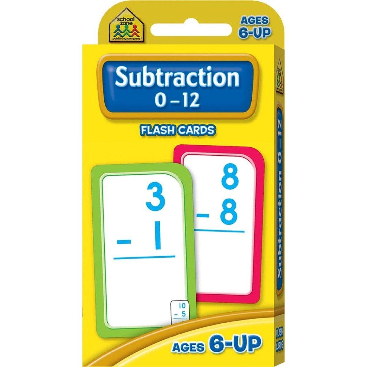 School Zone Subtraction 0-12 Flash Cards | Flashcards
