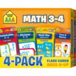 School Zone Sz040 47 Flash Cards   Math 3 & 4 | Walmart Canada