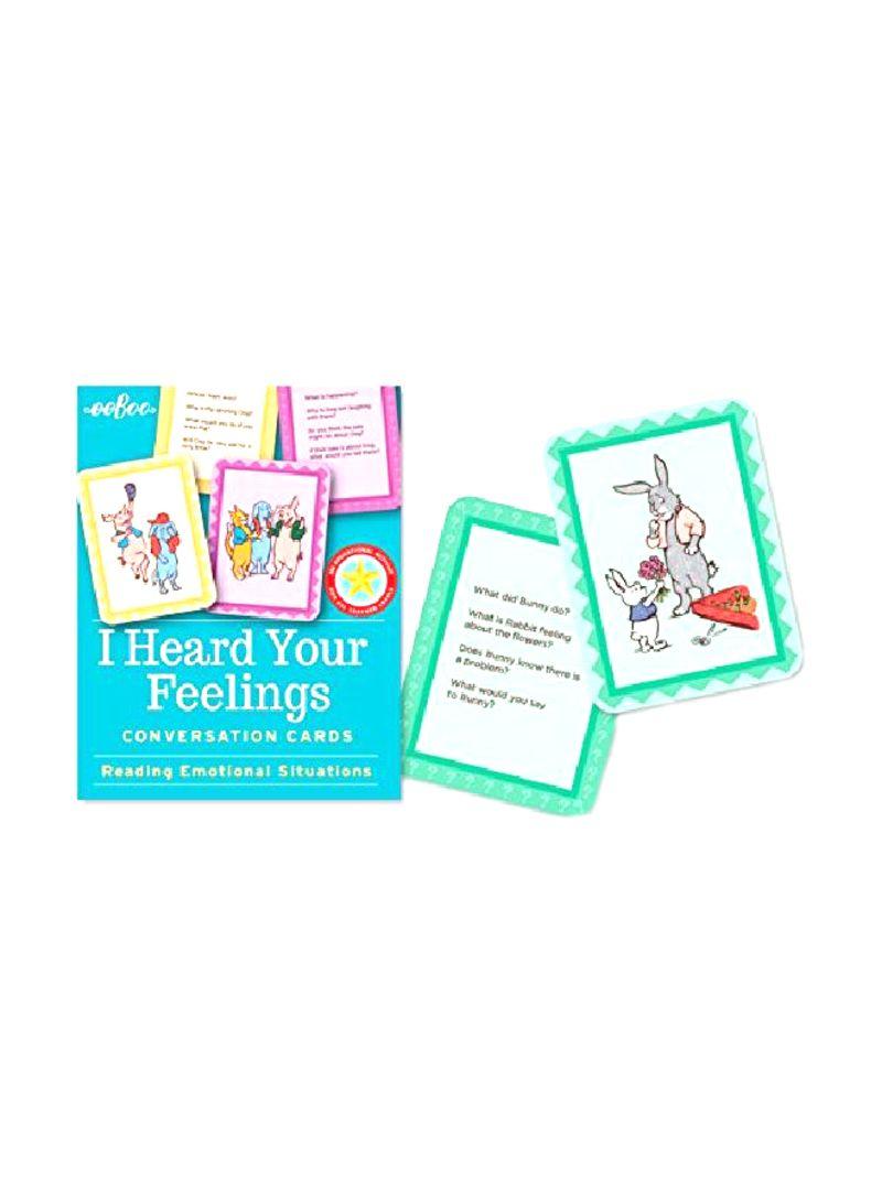 Shop Eeboo I Heard Your Feelings Conversation Flash Cards