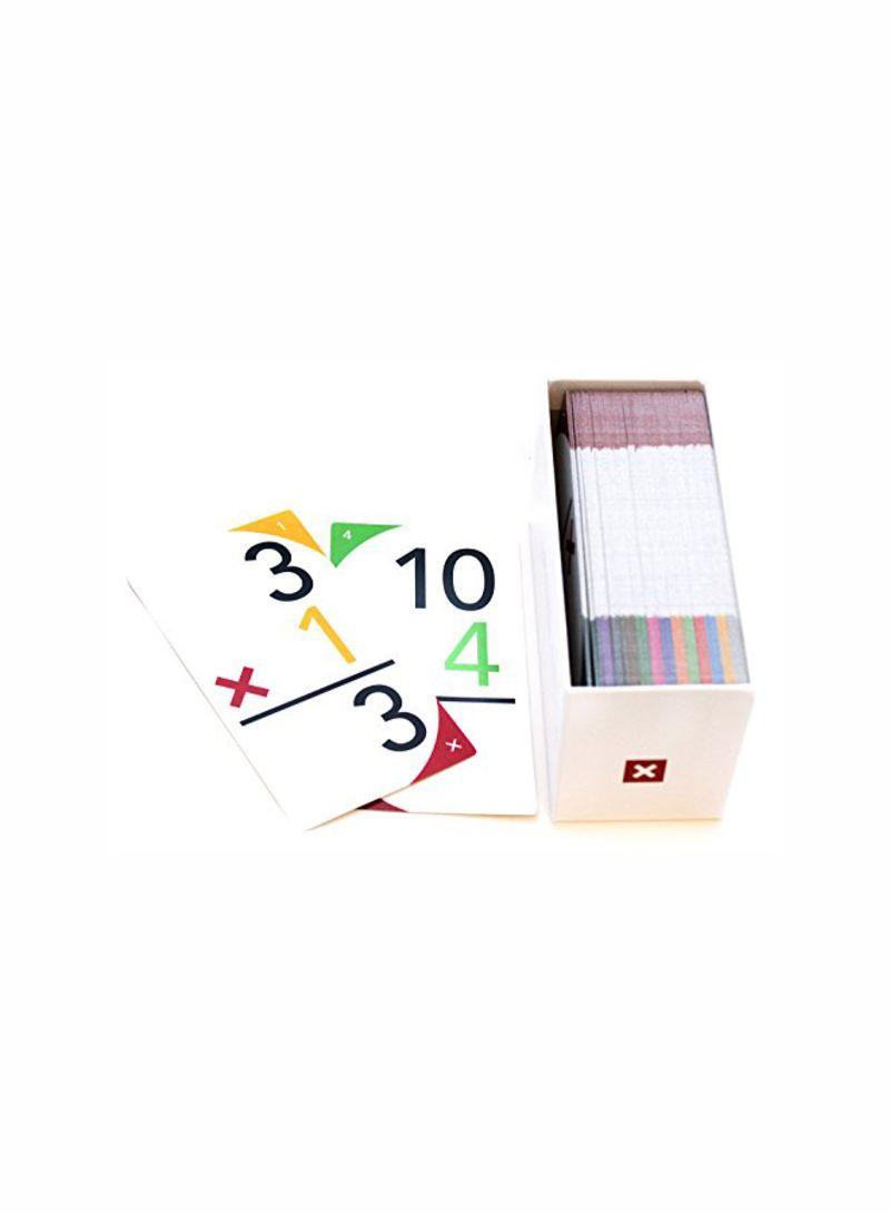 Shop Upsparks Multiplication Colour Coded Flash Card Set