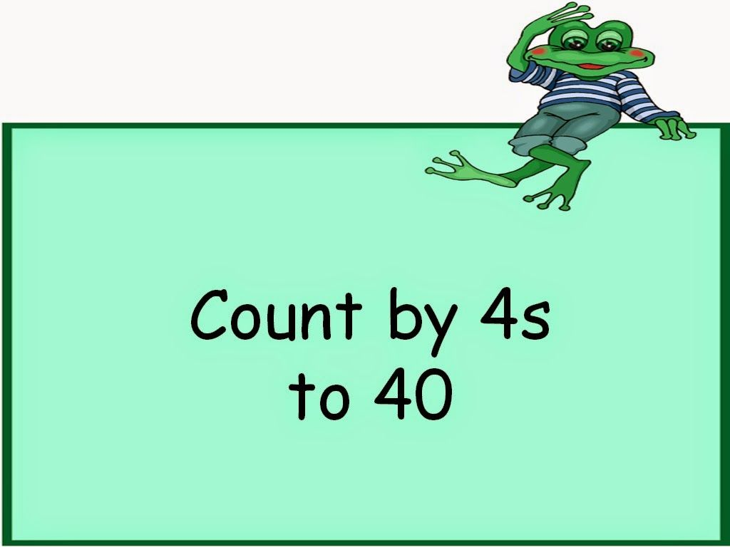 Skip Count4S To 40 Math Flash Cards | Math Flash Cards