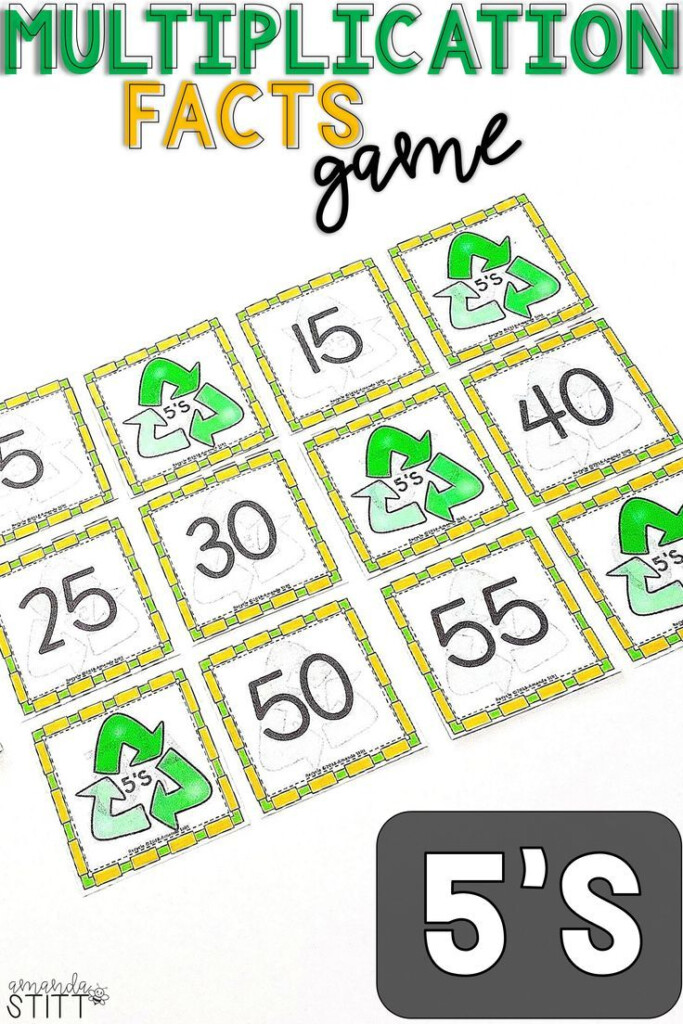 Skip Counting Game | Multiplication Facts Game | 5S (With
