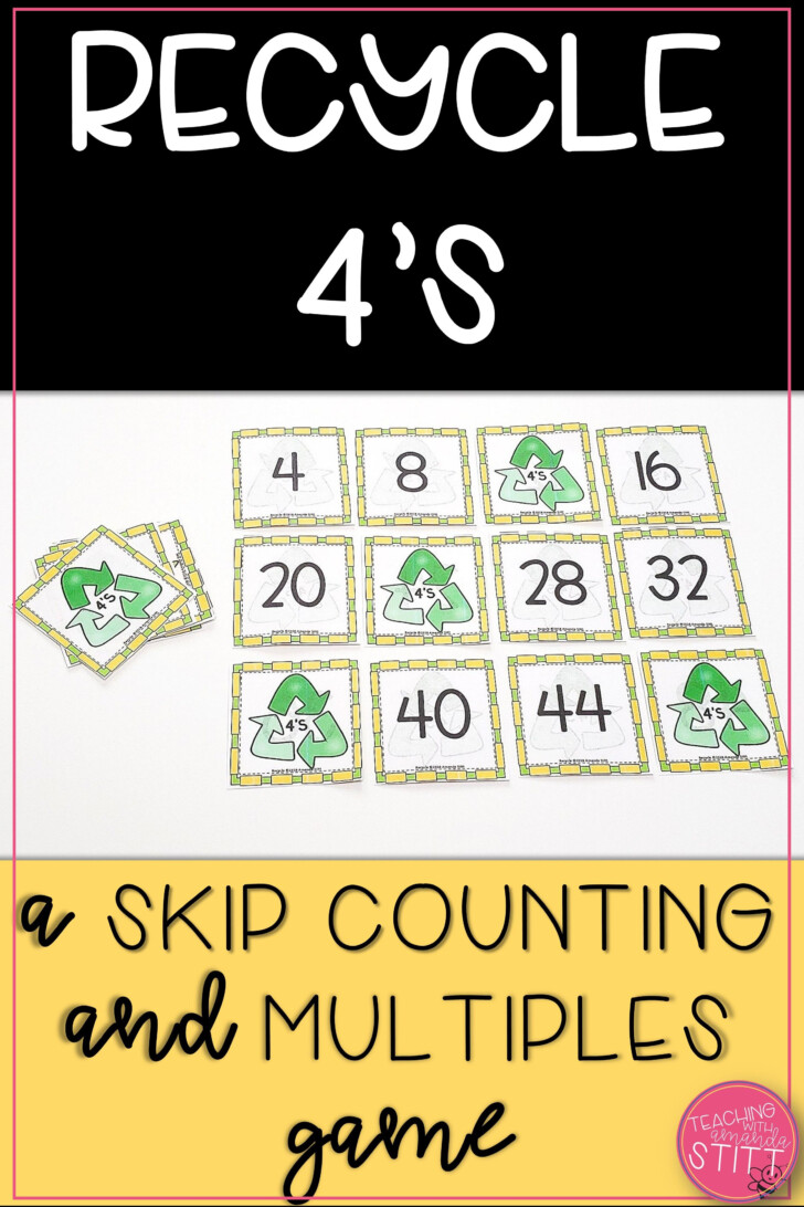 Multiplication Flash Cards Printable 4s