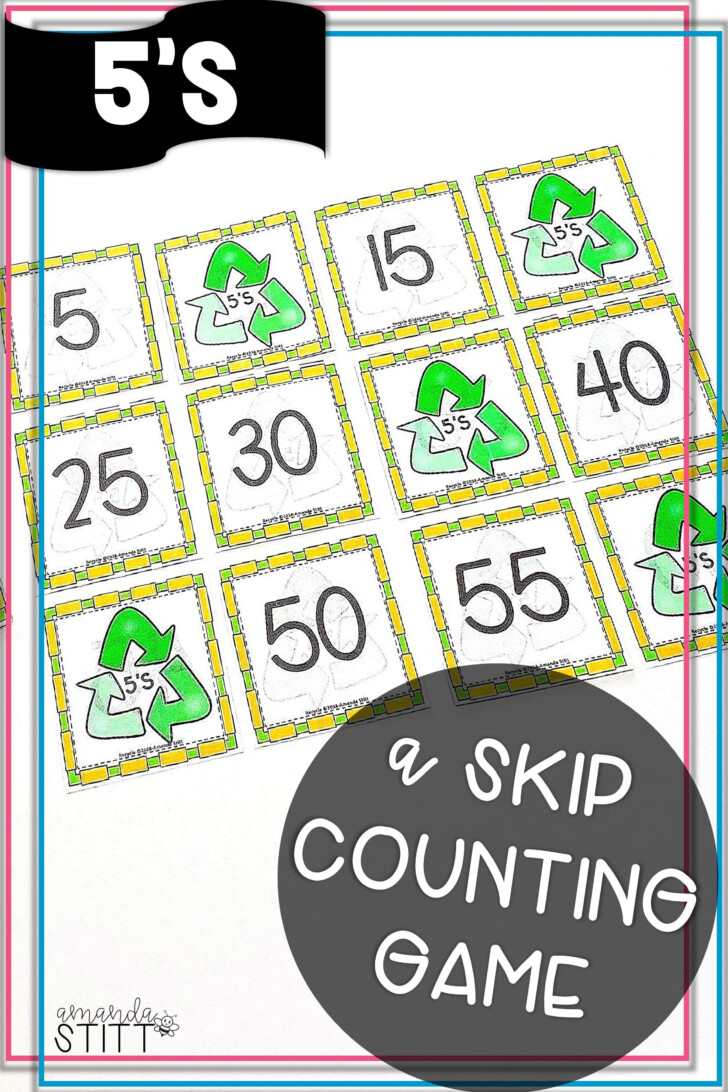 5's Multiplication Flash Cards