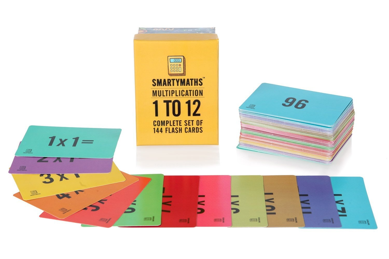 Smartymaths Multiplication Flash Cards, 1-12 All Facts-144