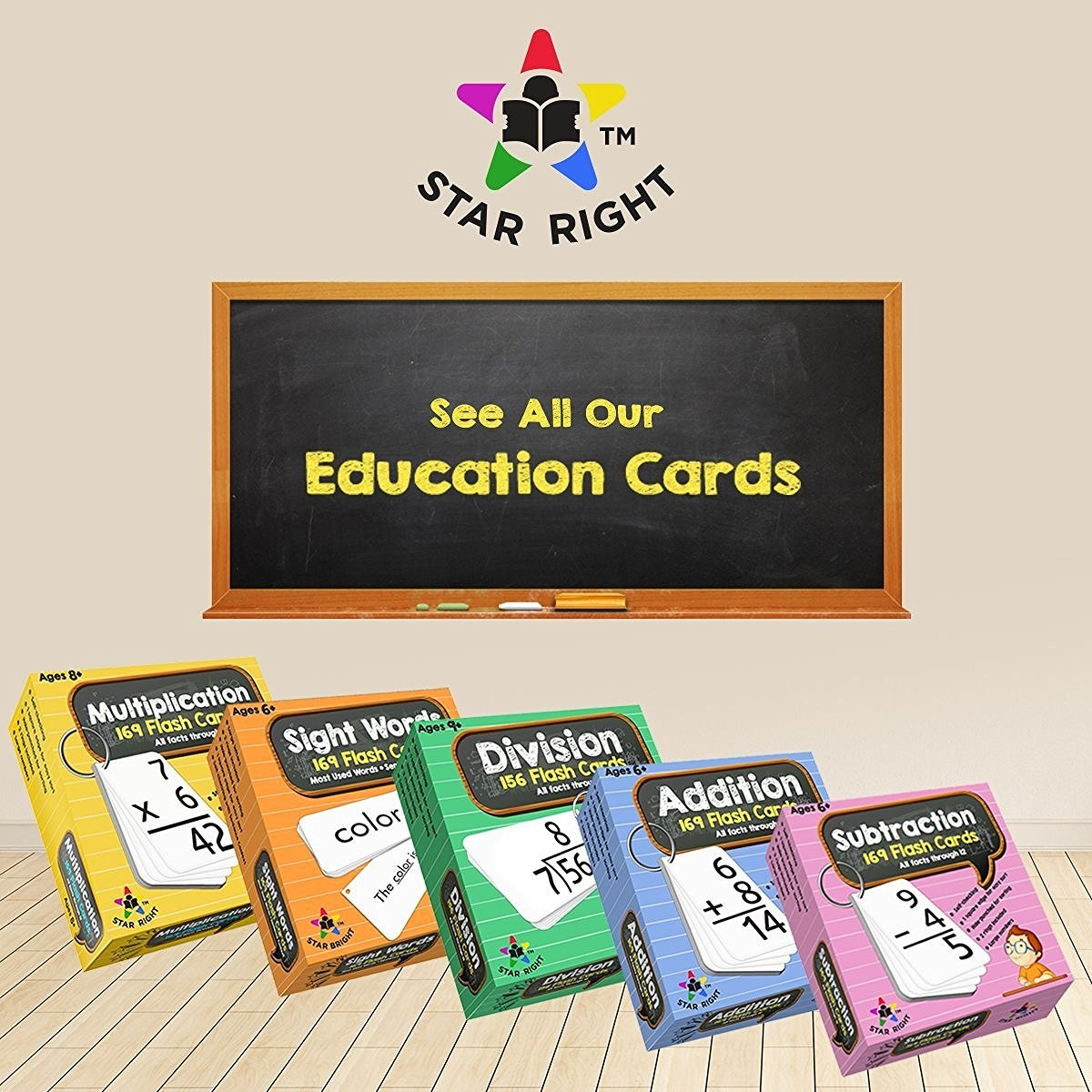 Star Education Math Division Flash Cards, 0-12 (All Facts
