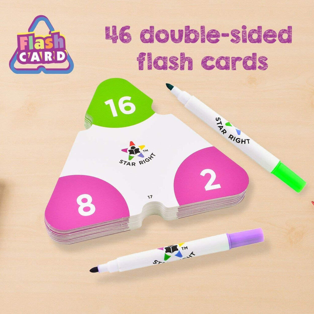 Star Right Multiplication And Division Triangle Flash Cards