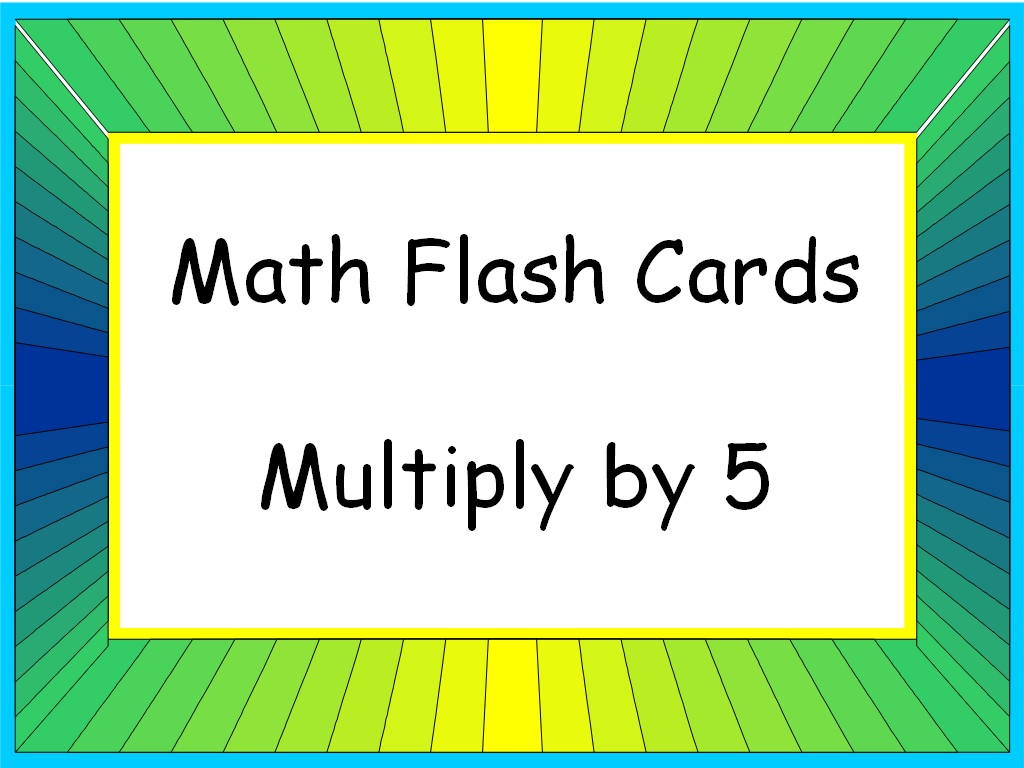 Student Survive 2 Thrive: Math Flash Cards: Multiply5 (5