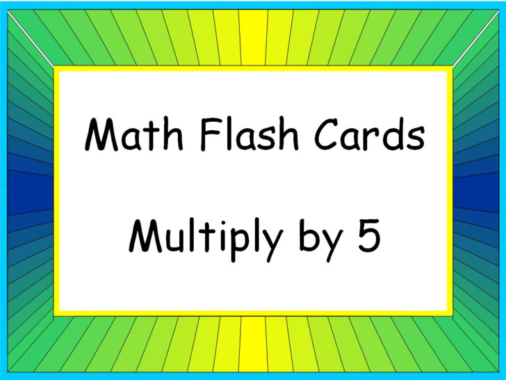 Multiplication Flash Cards 5s