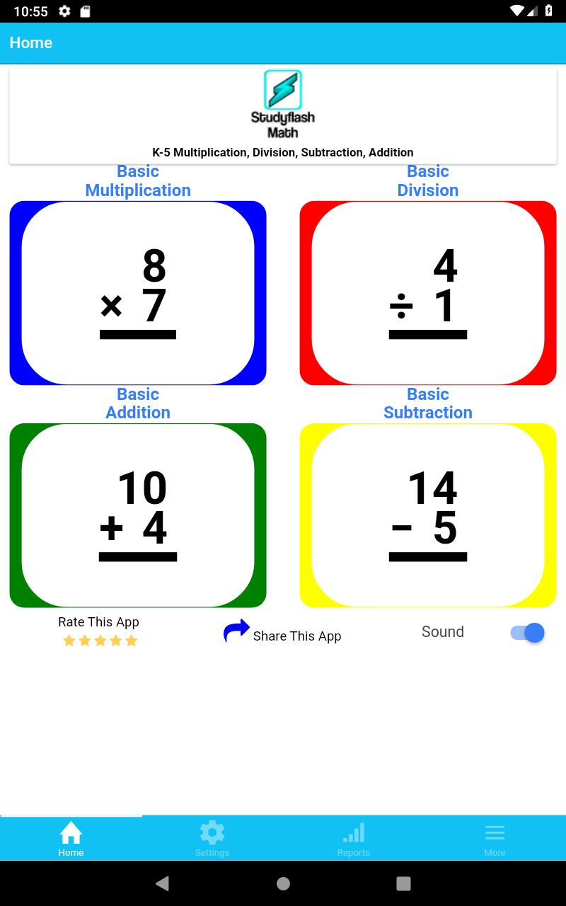 Studyflash Math Flash Cards Games Quizzes K-5 Free For