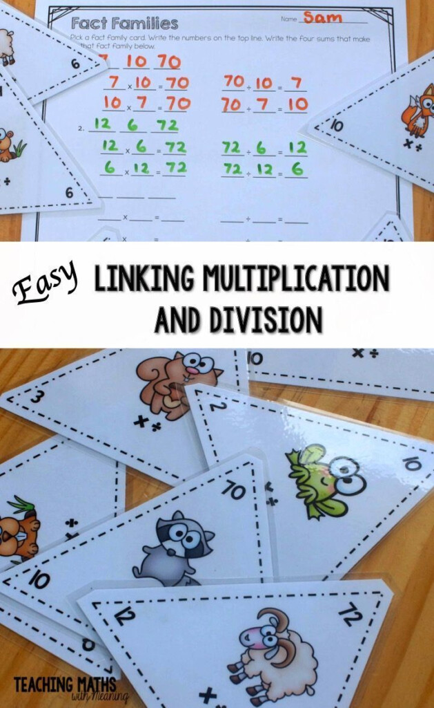 Teaching Multiplication And Division And The Connection