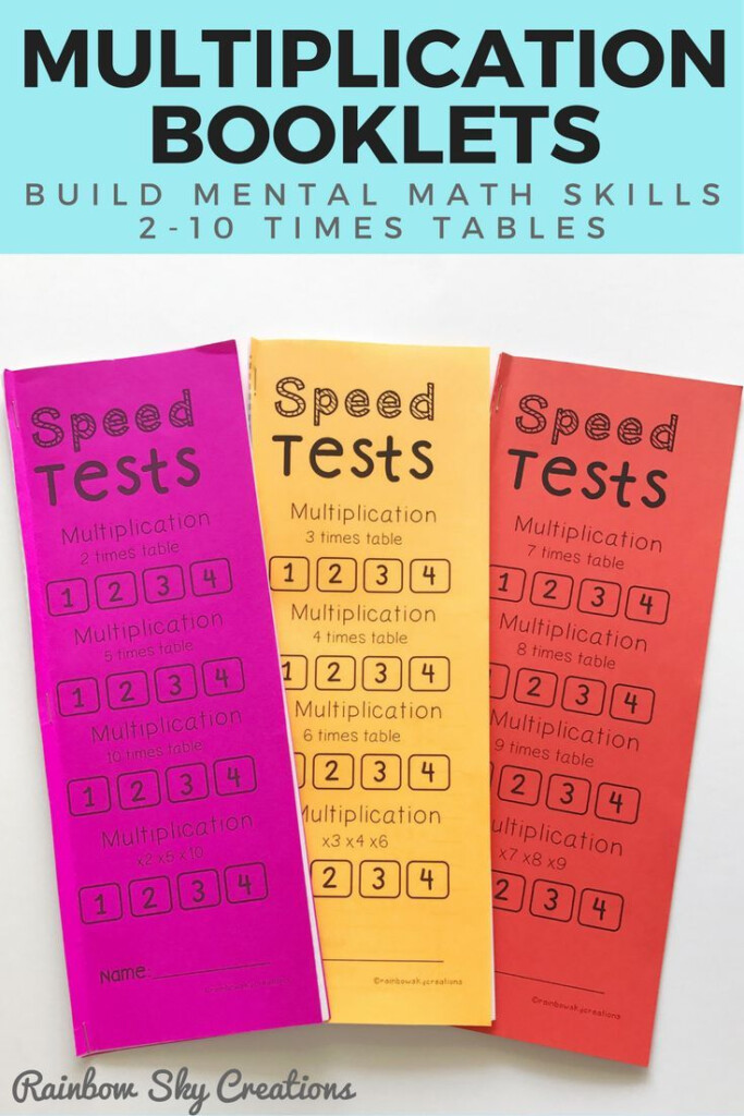 These Multiplication Booklets Are Designed To Develop