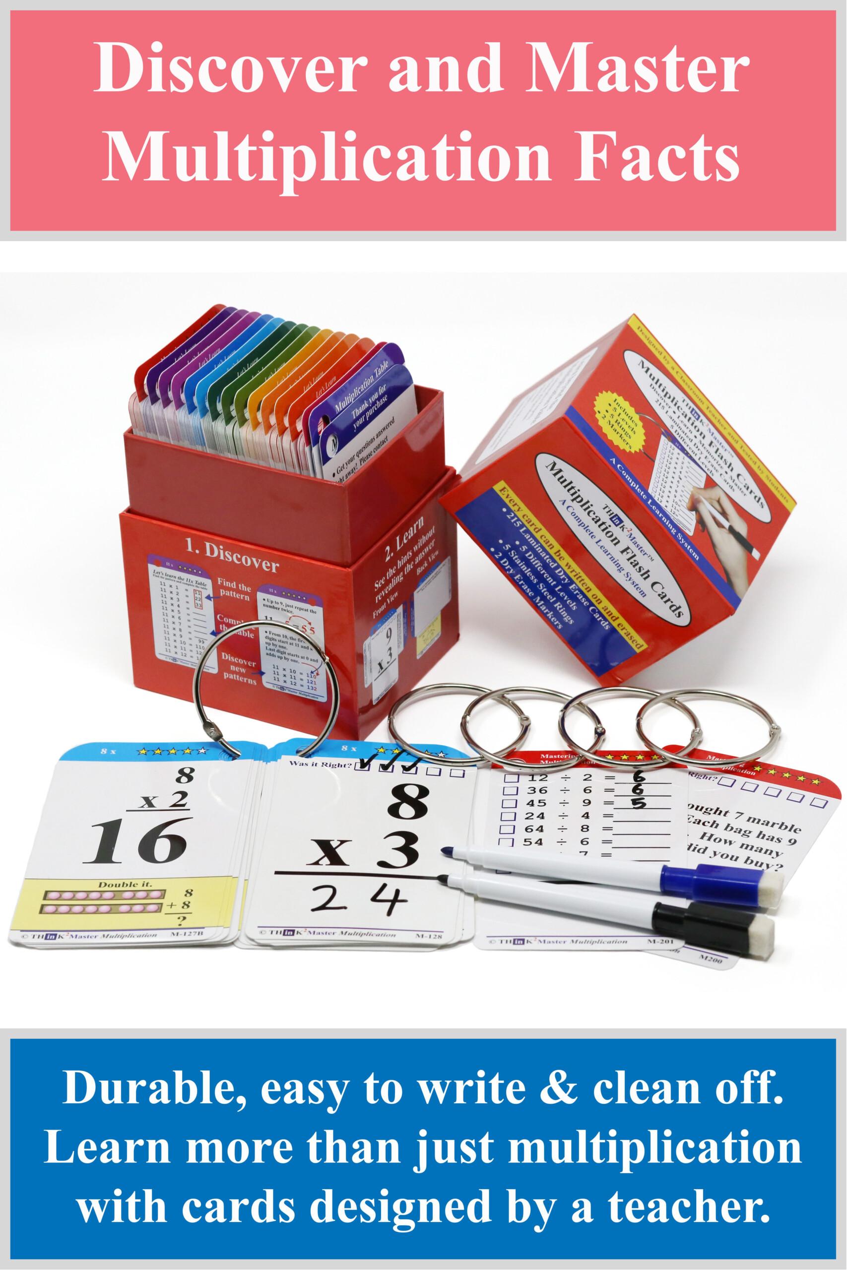 Think2Master Multiplication Flash Cards | Multiplication