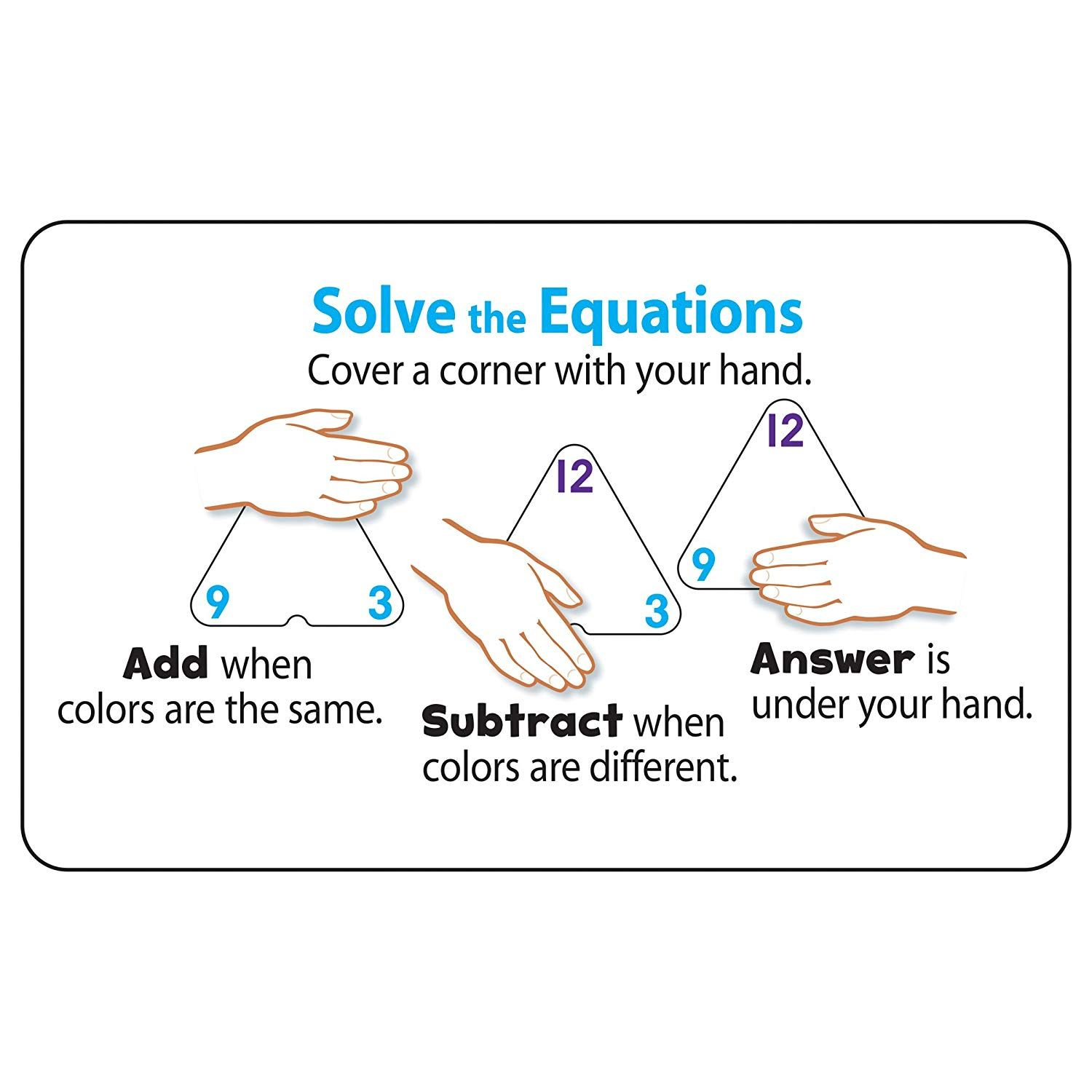 Three-Corner Flash Cards: Addition And Subtraction -- Click