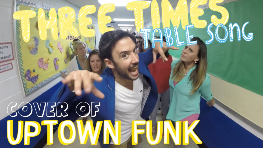 Three Times Table Song (Cover Of Uptown Funkmark Ronson And Bruno Mars)