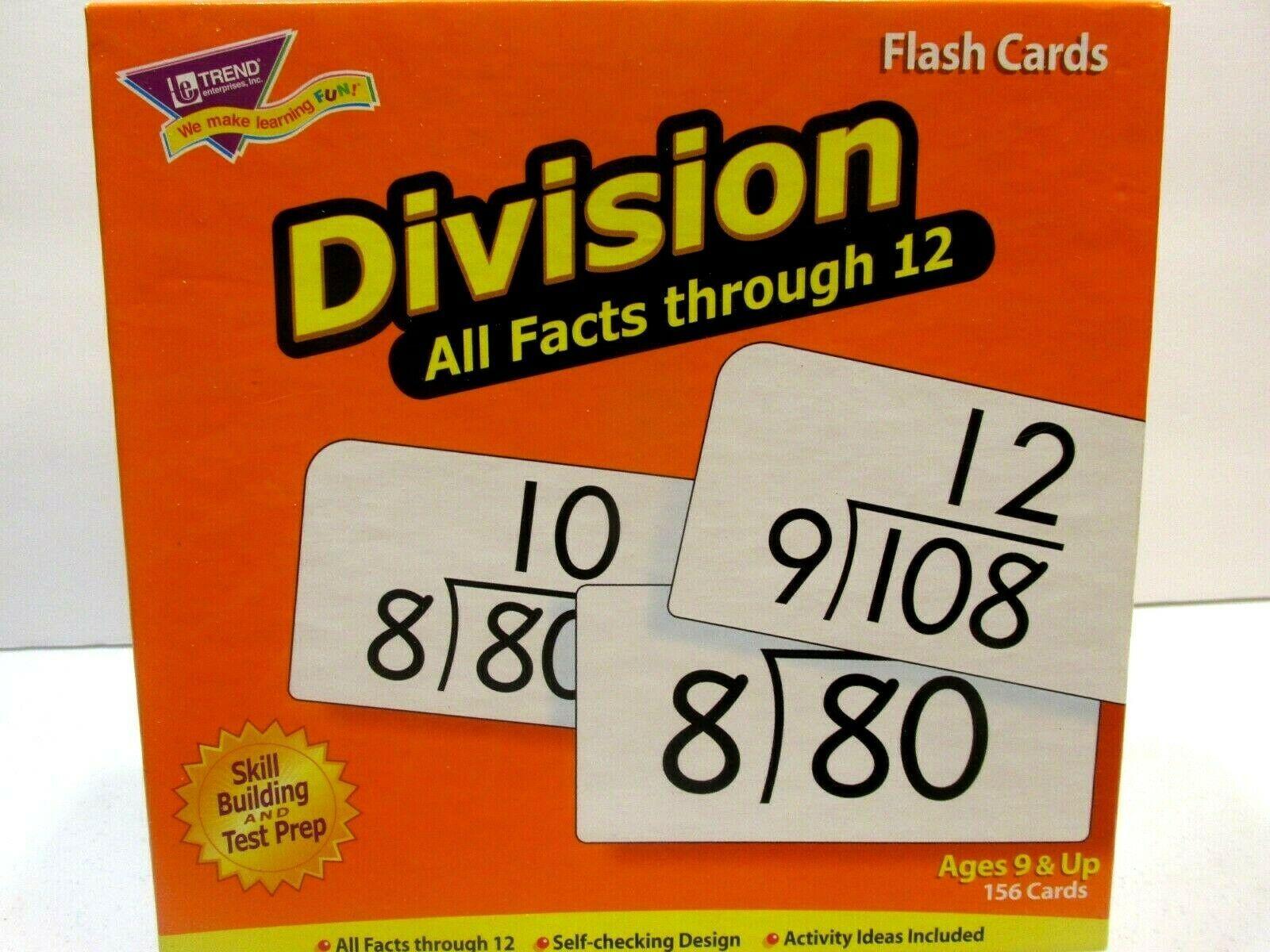 Trend Enterprises Division Flash Cards Facts Through 12 Math