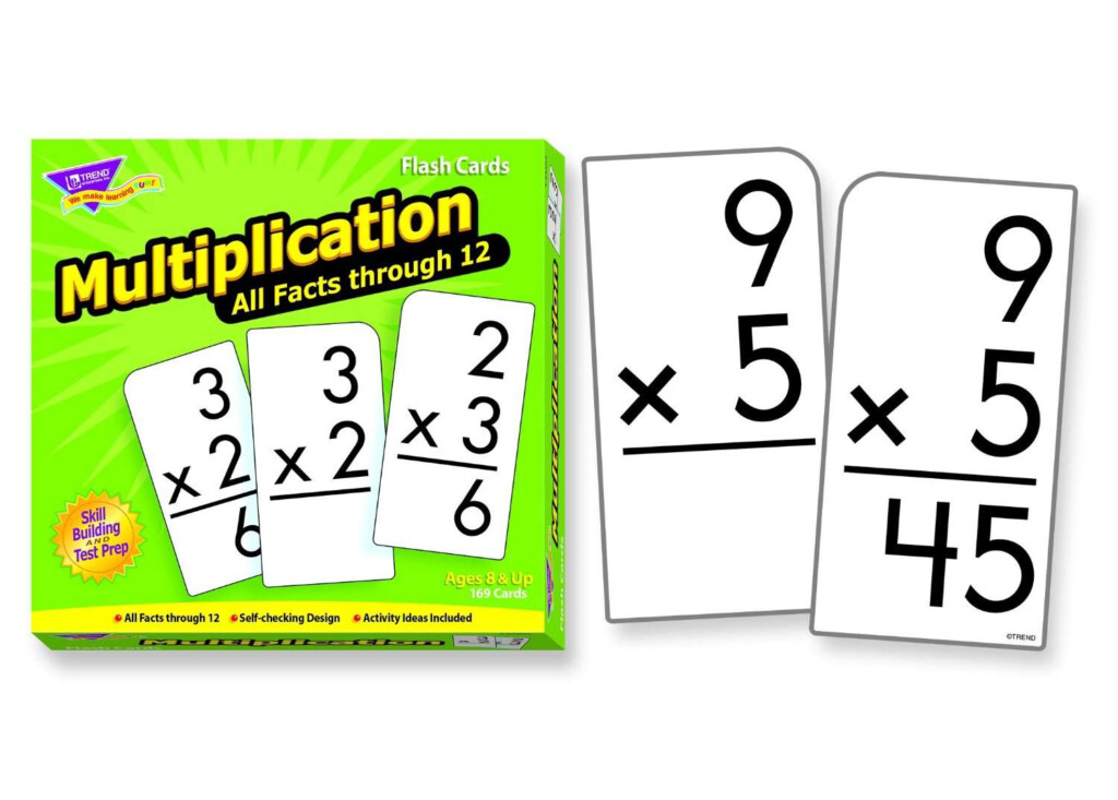 Trend Enterprises Multiplication 0 12 Flash Cards All Facts