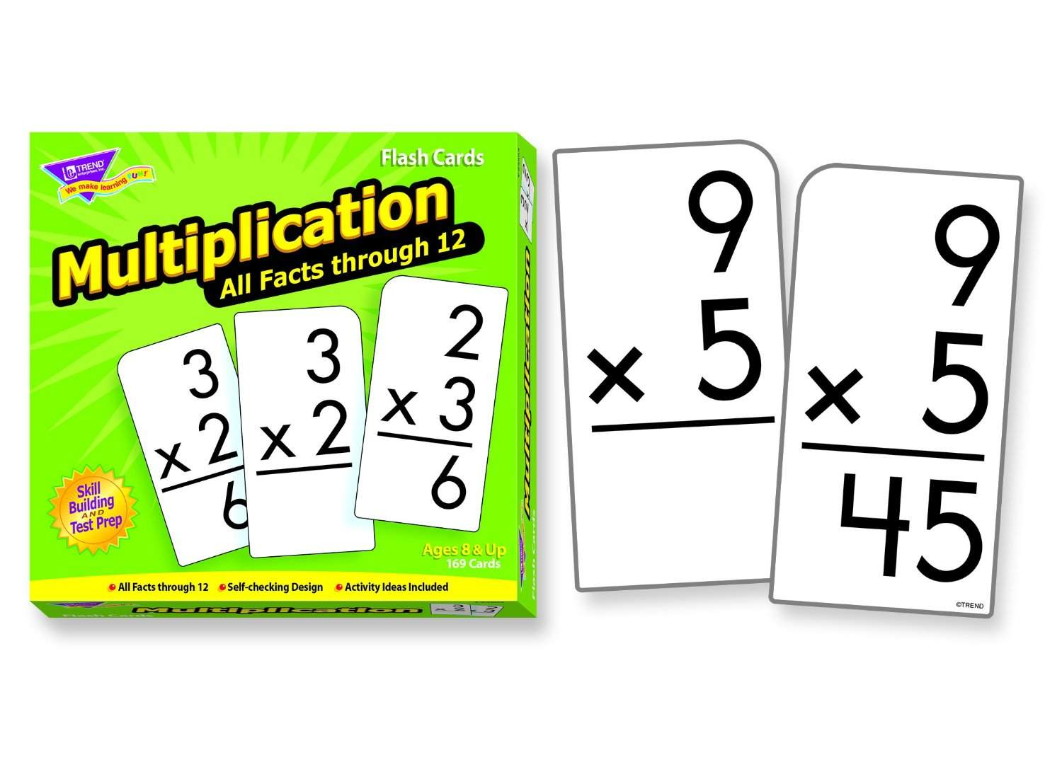 Trend Enterprises Multiplication 0-12 Flash Cards All Facts