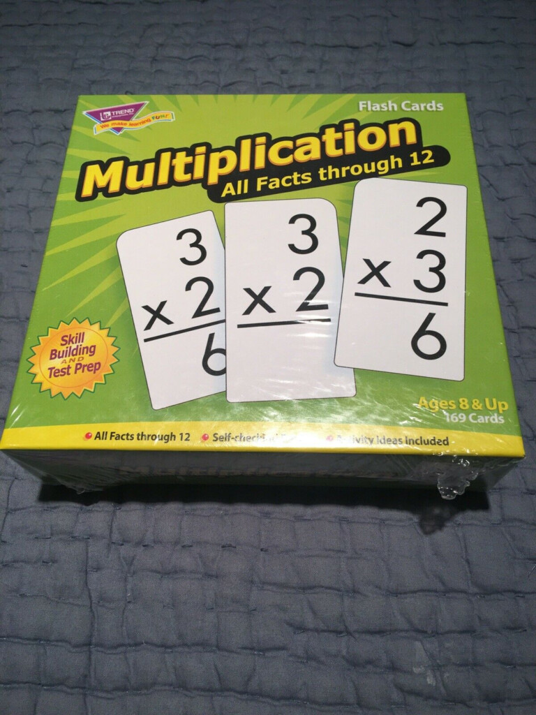 Trend Enterprises Multiplication Flash Cards All Facts Through 12
