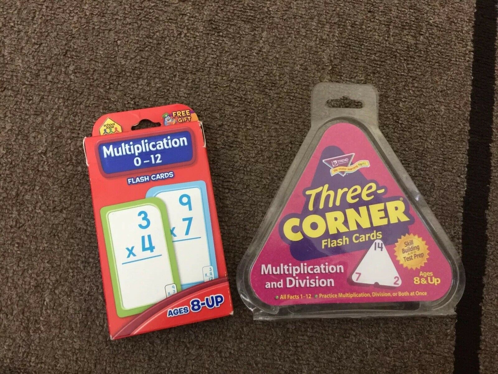 Trend Multiplication Division 3 Corner Flash Cards And Multiplication Card  Lot