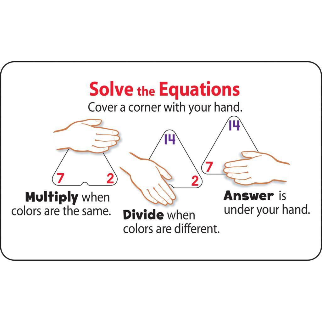 Trend Multiplication/division Three Corner Flash Card Set