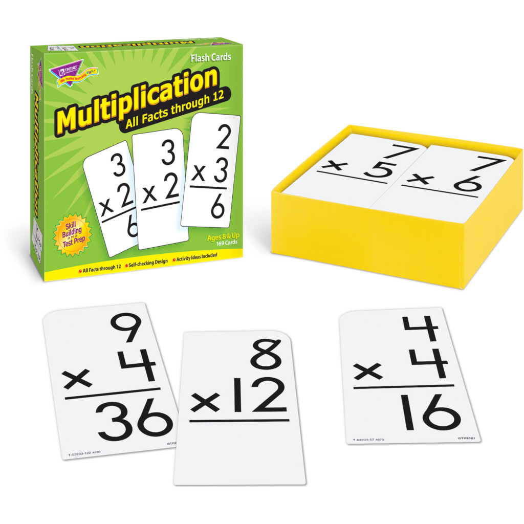 Trend, Tep53203, Multiplication All Facts Through 12 Flash Cards, 169 / Box