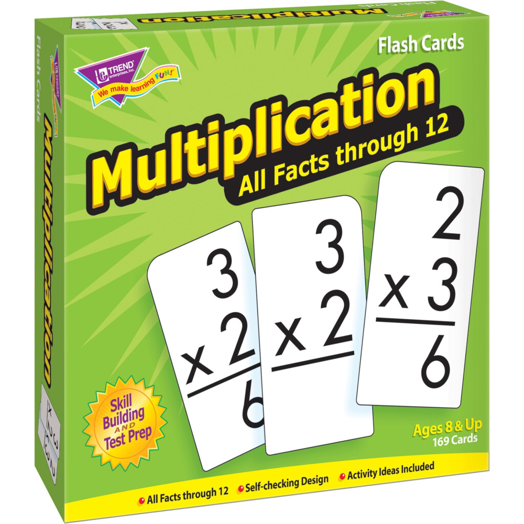Trend, Tep53203, Multiplication All Facts Through 12 Flash Cards, 169 / Box    Walmart