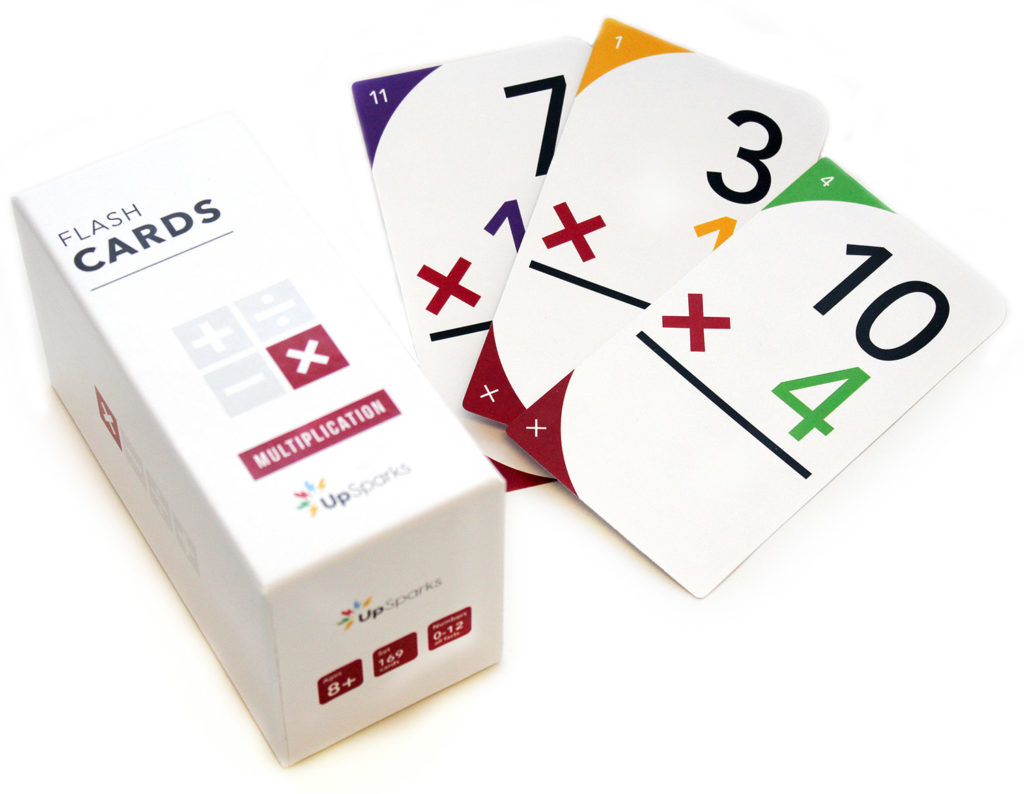 Upsparks Multiplication Flash Cards - Upsparks