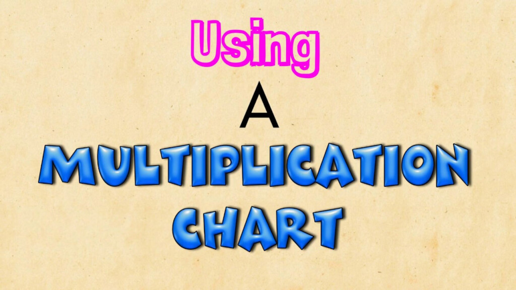 Using A Multiplication Chart