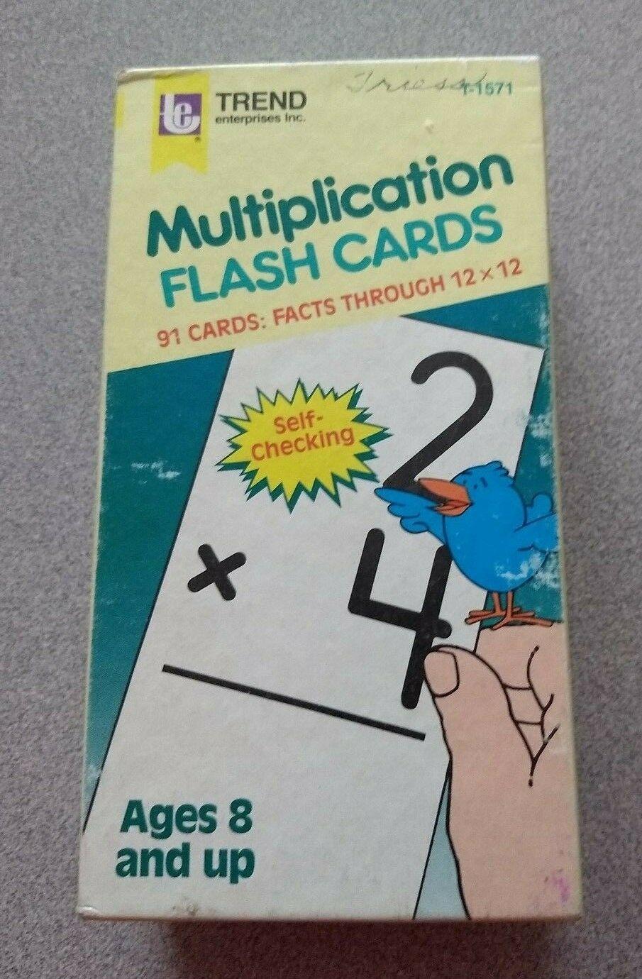Vintage Trend Multiplication Flash Cards Set (Complete) Ages 8+