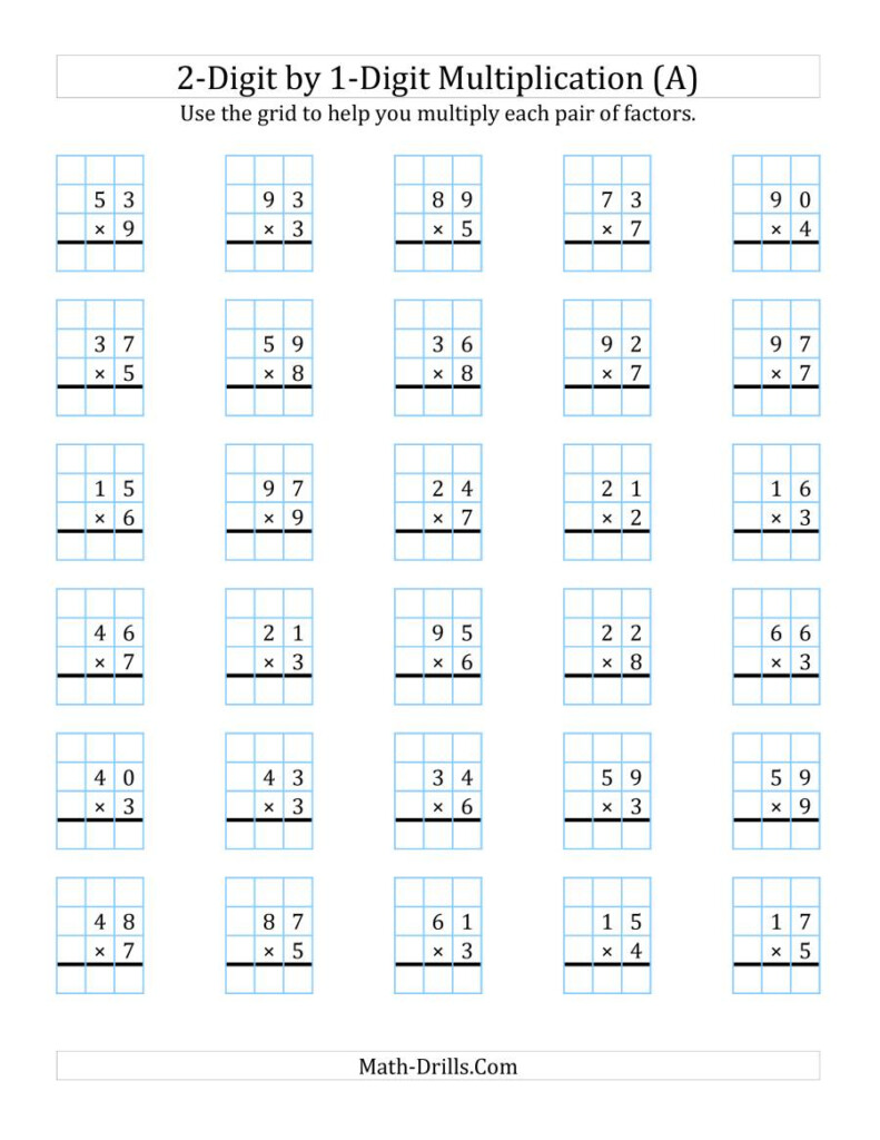Worksheet ~ Multiplication With Grid 0201 001 Pin Worksheet