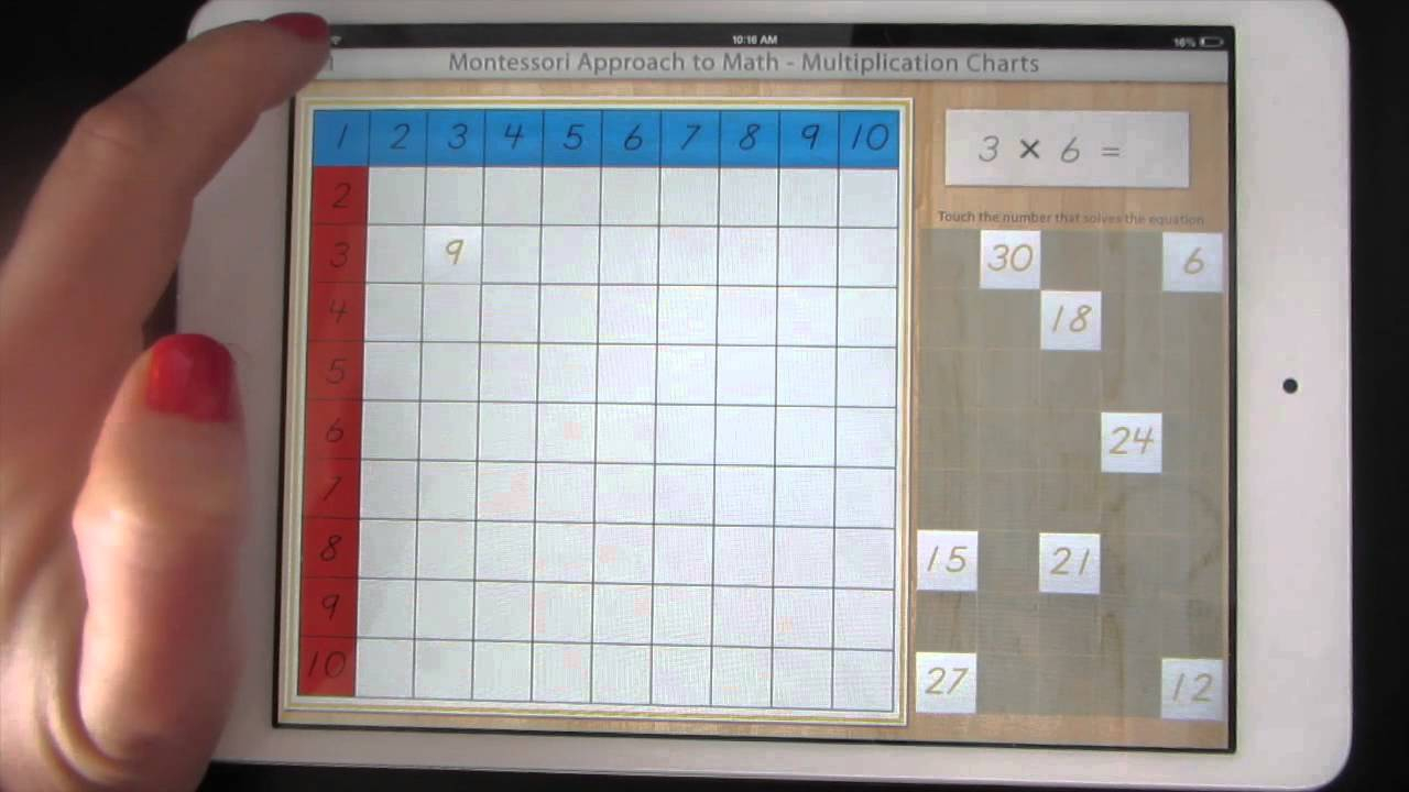 X3 And X4 Montessori Approach To Math- Multiplication Charts