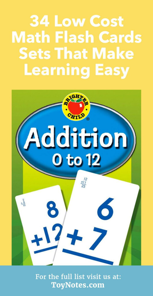 34 Low Cost Math Flash Cards Sets That Make Learning Easy