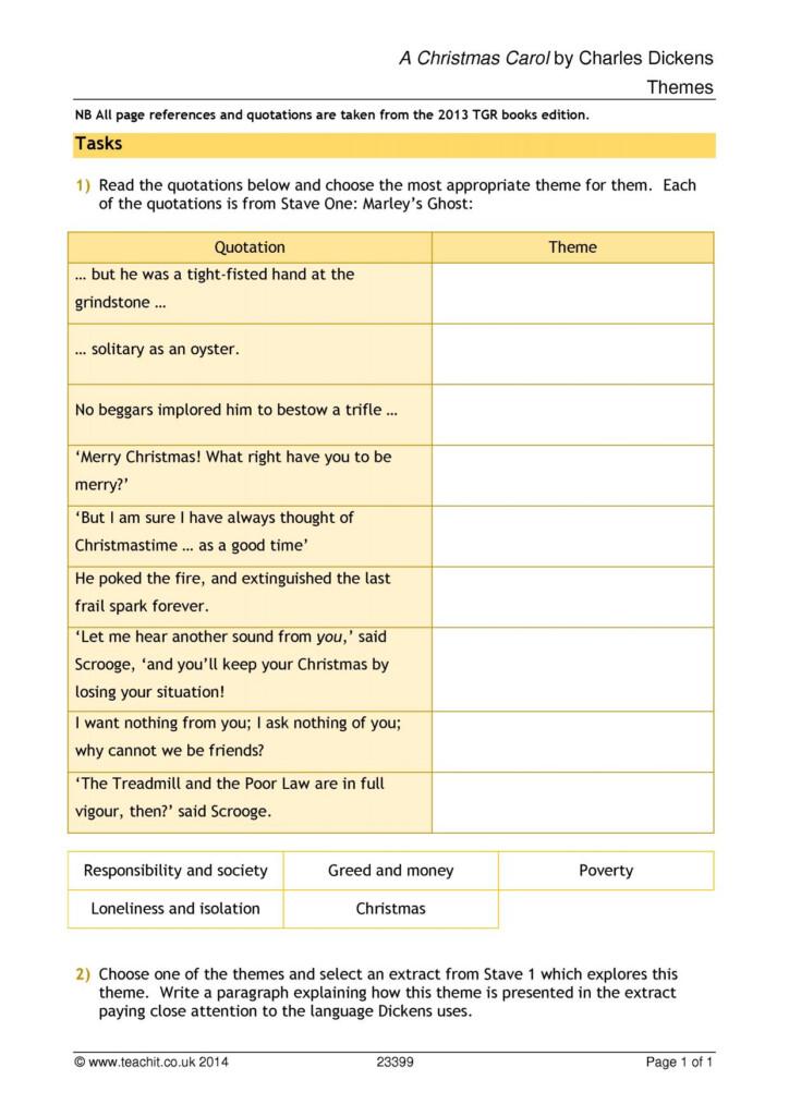 A Christmas Carol Worksheets And Activities | Printable