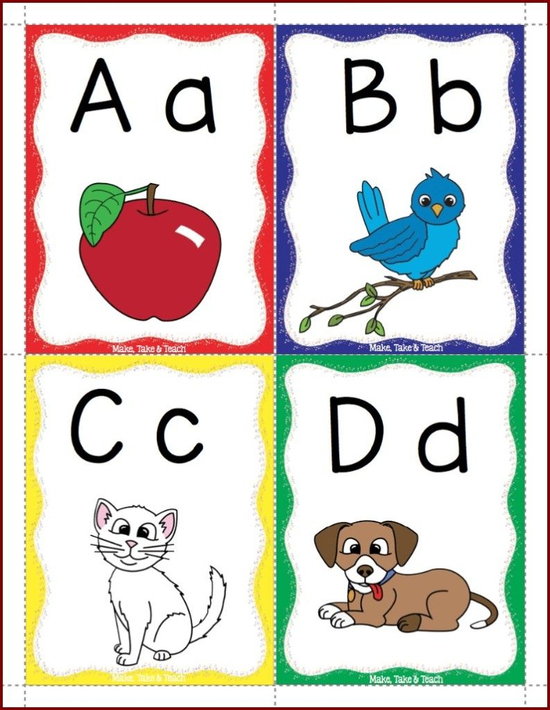 Alphabet Flashcards Freebie! - Make Take & Teach | Alphabet