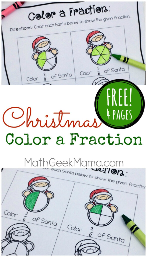 Christmas Fraction Worksheets For 3 5 Grade {Free}