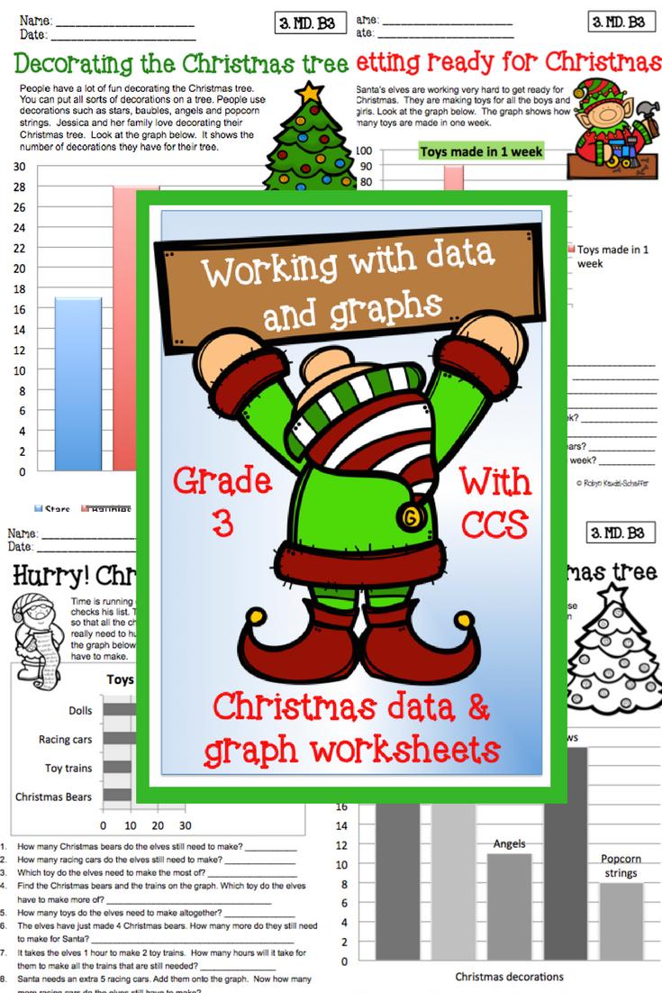 Christmas Holiday Themed Math Data And Graph Printables
