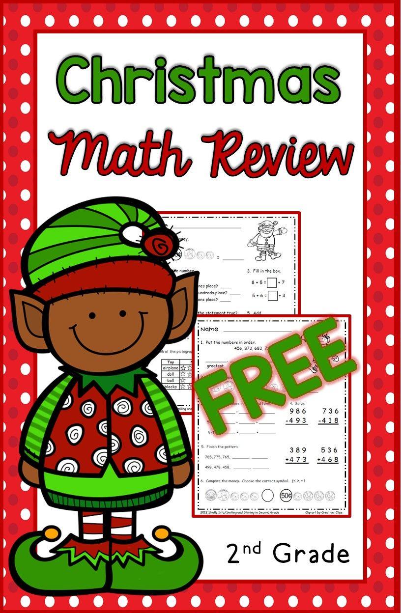 Christmas Math For 2Nd Grade--Free Second Grade Math