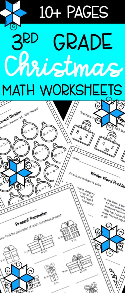 Christmas Math Worksheets For 3Rd Grade   Multiplication
