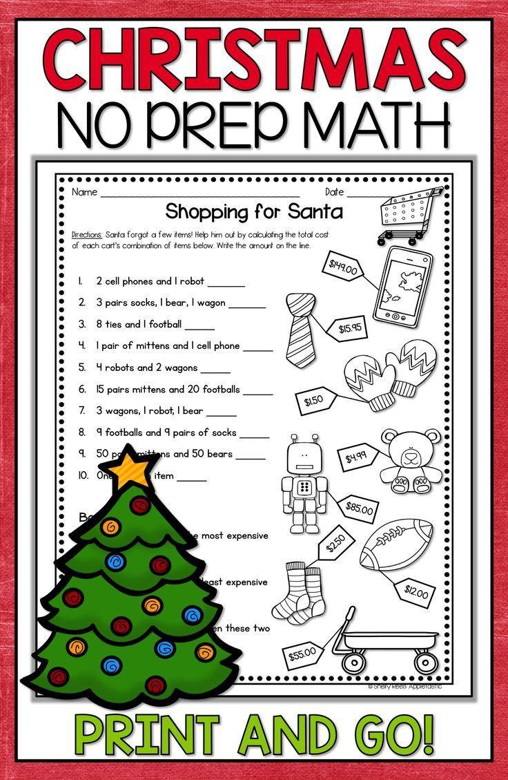 Christmas Math Worksheets Tree Pumpkin Games Fractions